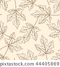 Pattern with falling maple leaves. 44405669