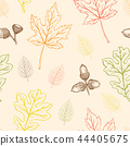 Seamless pattern with oak and maple leaves 44405675