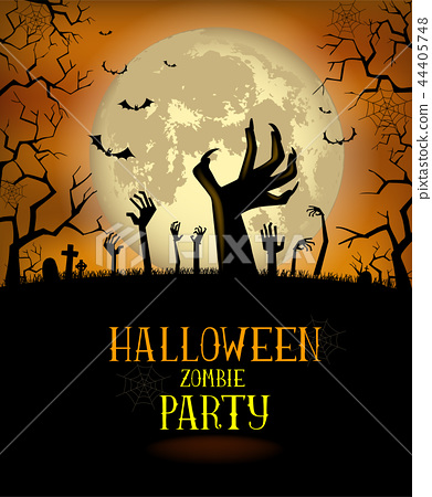 Halloween background for a poster 44405748