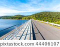 Josefuv Dul Dam, Earth-filled dam in Jizera Mountains with asphalt road on the top, Czech Republic 44406107