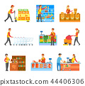 Set of Varied Works in Food Supermarket Poster 44406306
