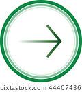 arrow right sign 44407436
