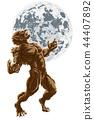 Full Moon Werewolf Scary Horror Monster 44407892