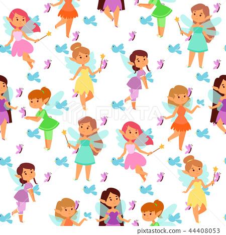 Fairies princess fairy girl vector character cute beautiful style cartoon little fairyland fashion 44408053