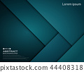 Abstract of gradient blue paper cut pattern. 44408318