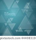 Triangle technology futuristic pattern on gradient 44408319