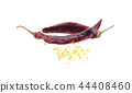 Dried red chili or chilli cayenne pepper 44408460