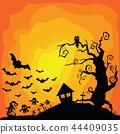 Vector Halloween orange background. 44409035