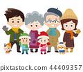 เสื้อผ้าฤดูหนาวสำหรับครอบครัวและสัตว์เลี้ยงที่ดี 44409357
