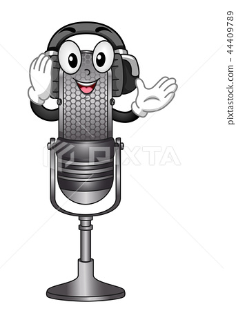 Mascot Podcast Radio Illustration 44409789