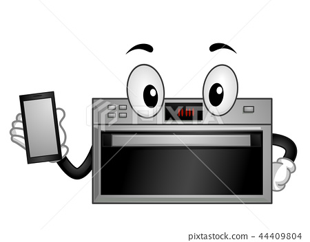 Mascot Smart Appliance Oven Illustration 44409804