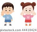 男孩和女孩春天的衣服 44410424