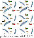 Pattern of Centipede and ants in the style of dood 44410521