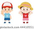 男孩和女孩夏天的衣服 44410551