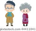 祖父和祖母冬天的衣服 44411041