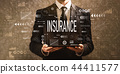 Insurance with businessman holding a tablet computer  44411577