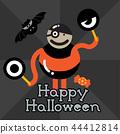 HAPPY HALLOWEEN ORANGE MONSTER 44412814