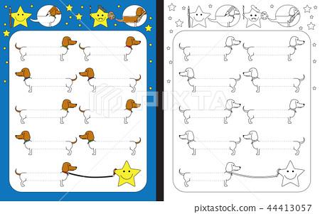 Preschool worksheet 44413057