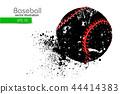 baseball silhouette vector 44414383