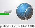 baseball, silhouette, vector 44414386