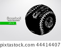 ball baseball silhouette 44414407