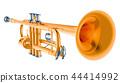 Trumpet, 3d rendering 44414992