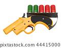Flare gun, 12 gauge signal flare launcher 44415000