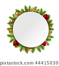 Christmas Wreath Greeting 44415030
