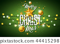 christmas merry typography 44415298