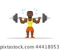 Weight Lifting athlete 44418053