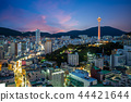 night view of busan with busan tower in korea 44421644