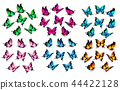 Colorful butterflies set. Vector. 44422128