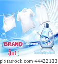 Laundry detergent ad. Washing White clothes 44422133