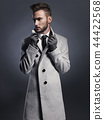 Handsome stylish man in autumn coat 44422568