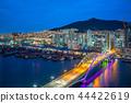 night view of busan harbor in south korea 44422619