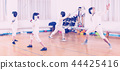 fencer, coach, training 44425416