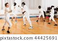 gym, stance, lunge 44425691