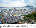 aerial view of busan city and harbor, korea 44428712