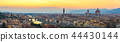 Florence Italy, sunset panorama city skyline 44430144