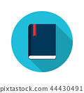 Book flat vector icon education symbol concept 44430491