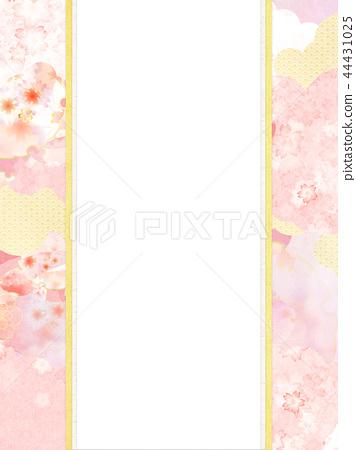 สไตล์ญี่ปุ่น - ญี่ปุ่น - ลวดลายญี่ปุ่น - พื้นหลัง - กระดาษญี่ปุ่น - สปริง - เชอร์รี่ - ชมพู - นิชิ 44431025