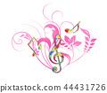 Music musical score Ikebana treble clef music notation music 44431726