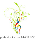 music, musical, g-clef 44431727