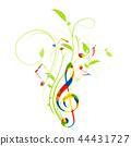 Music musical score Ikebana treble clef music notation music 44431727