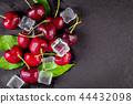 Fresh ripe cherries for background 44432098