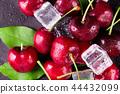 Fresh ripe cherries for background 44432099