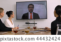 Video Conference in meeting room. 44432424