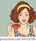 woman coffee drink 44432784