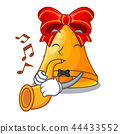 With trumpet cartoon christmas bells for christmas decoration 44433552