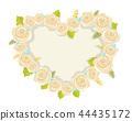 Heart Made of White Roses Vector Illustration 44435172
